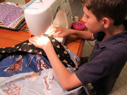 Sewing pillow cases
